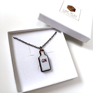 Gin bottle necklace - Gin lover gift