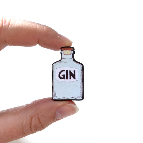 Gin bottle pin - Quirky gin lover gift