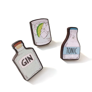 Gin lover gift - Set of 3 pins