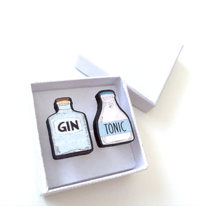Gin and tonic mismatch cuff links - Quirky gift for him