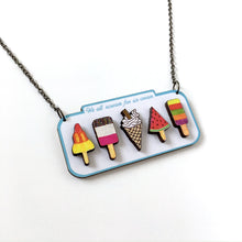 Load image into Gallery viewer, Ice cream lover sign statement necklace