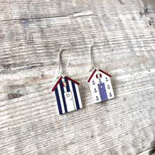 Load image into Gallery viewer, Nautical beach hut mismatch drop earrings - Summer accessories