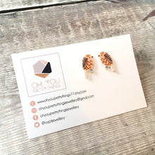 Load image into Gallery viewer, Brown owl bird lover earrings - Quirky stud earrings for her