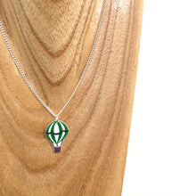 Load image into Gallery viewer, Green hot air balloon pendant necklace