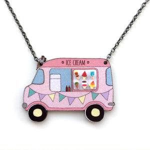 Ice cream van necklace - Quirky statement necklace