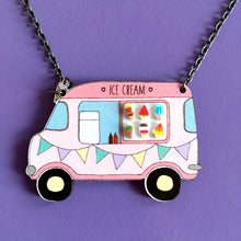 Load image into Gallery viewer, Ice cream van necklace - Quirky statement necklace