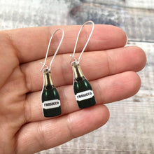Load image into Gallery viewer, Prosecco bottle drop earrings