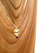 Load image into Gallery viewer, Yellow hot air balloon pendant necklace