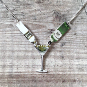 Gin and tonic statement necklace