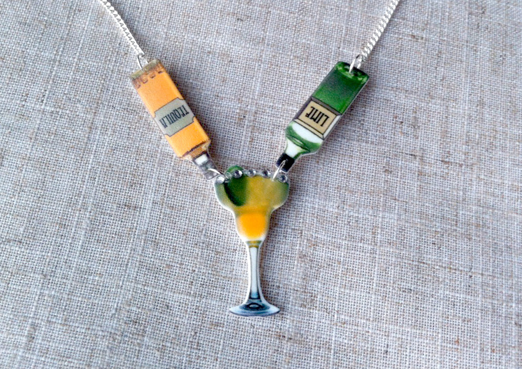 Margarita necklace - Tequila cocktail necklace