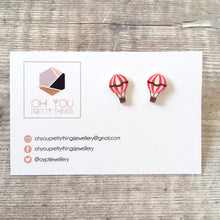 Load image into Gallery viewer, Hot air balloon stud earrings - Summer accessory