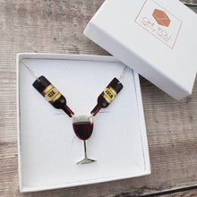 Load image into Gallery viewer, Red wine necklace - Wine lover gift