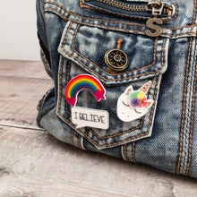 Load image into Gallery viewer, Unicorn rainbow pin set - Cute gift for girls