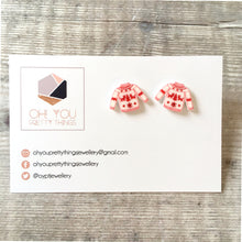 Load image into Gallery viewer, Christmas jumper funny holiday stud earrings - Christmas party fashion