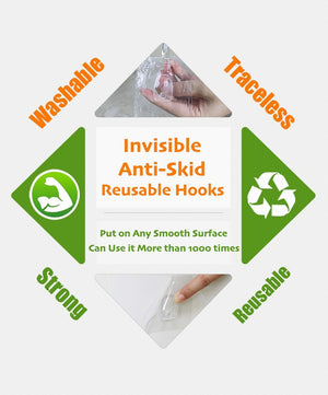 Invisible Anti-Skid Reusable Hooks (10pcs)