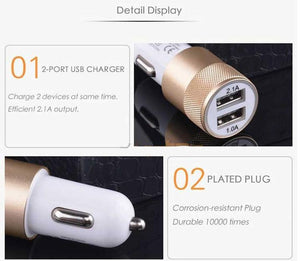 2-Port USB Car Phone Charger