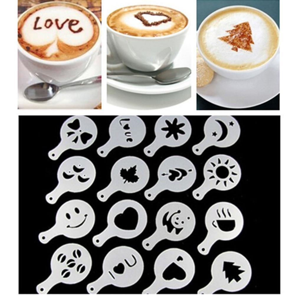 Creative Coffee Art Stencils 16pcs/set