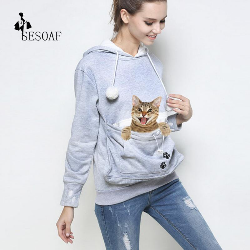 Stylish Hoodie Kangaroo Pouch (Cat and Dog Holder)