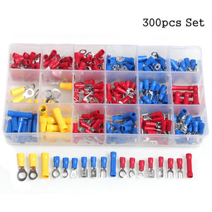 300pcs Electrical Wire Crimp Butt Connectors Set