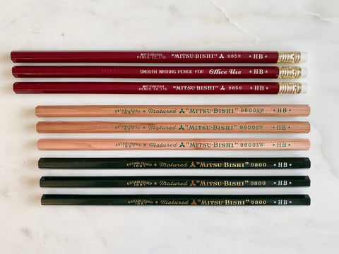 "Mitsu-Bishi ""Fairly Committed"" Pencil Pack"
