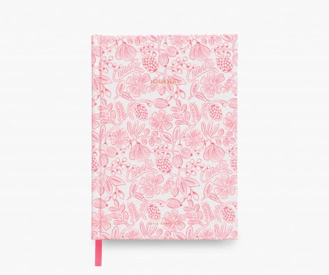 Pink Moxie Flora Fabric Journal