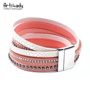 Leather Bracelet Women Jewelry