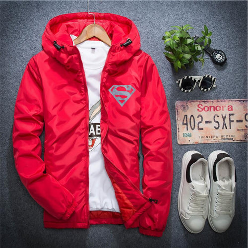 Men jacket casual hiphop windbreaker