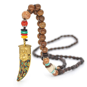 Nepal Necklace Buddhist Mala Wood