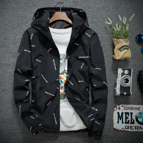Mens Bomber Jackets Hiphop Streetwear Windbreaker