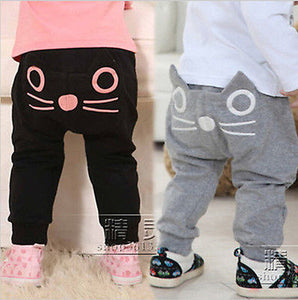 Infant Boys Girls Unisex Cat  Trousers