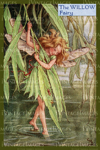 Cicely Barker 1923 - 1 - The Willow Fairy