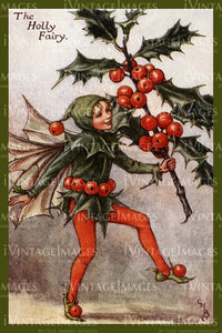 Cicely Barker 1923 - 10 - The Holly Fairy