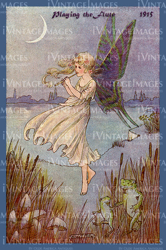 Hilda Miller Fairy 1915 - 2 - Playing the Flute