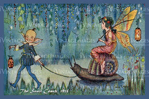 Hilda Miller Fairy 1915 - 9 - The Snail Coach