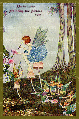 Outhwaite Fairy 1915 - 4 - Periwinkle Painting the Petals