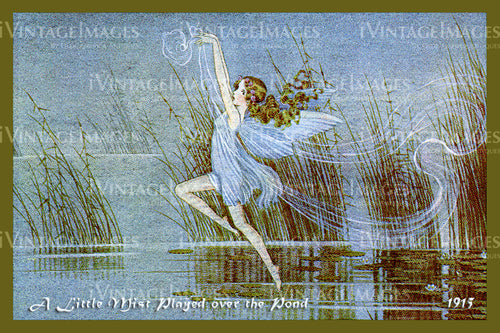 Outhwaite Fairy 1915 - 7 - A Little Mist Played over the Pond