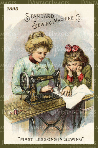 Sewing Trade Card 1895 - 1