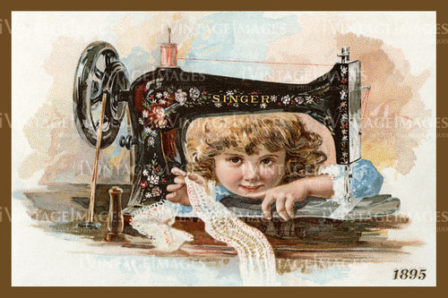 Sewing Trade Card 1895 - 7