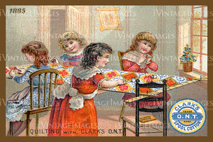 Sewing Trade Card 1885 - 8