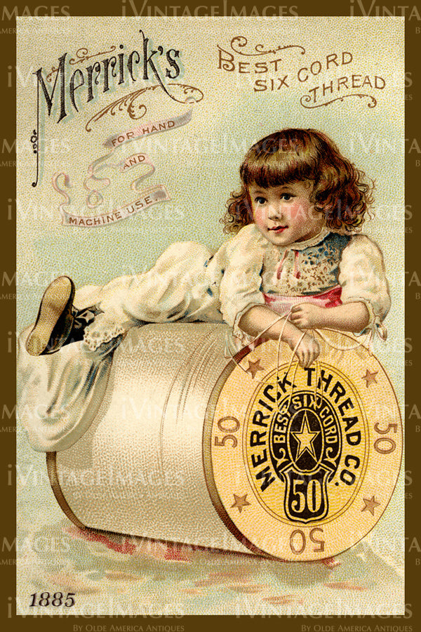 Sewing Trade Card 1885 - 9