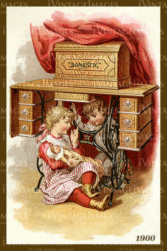 Sewing Trade Card 1900 - 14