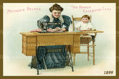 Sewing Trade Card 1899 - 19