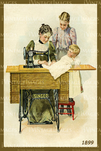 Sewing Trade Card 1899 - 20
