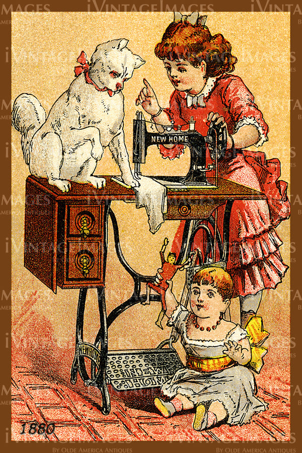 Sewing Trade Card 1880 - 21
