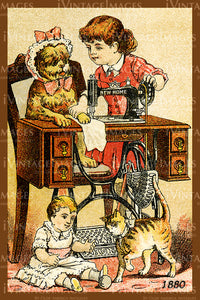 Sewing Trade Card 1880 - 23