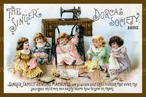 Sewing Trade Card 1890 - 35