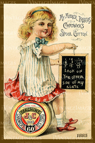Sewing Trade Card 1885 - 36