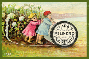 Sewing Trade Card 1890 - 45