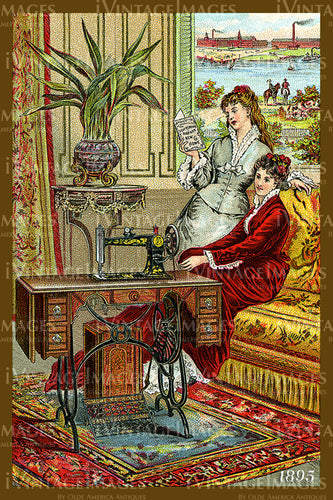 Sewing Trade Card 1895 - 54