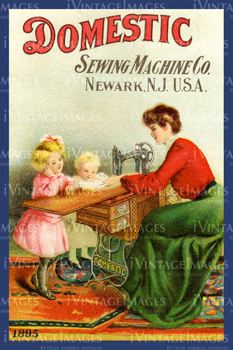 Sewing Trade Card 1895 - 60